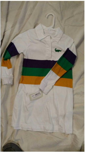 3eb7f46e3d8 Infant 0-24 mos :: Ruffles n britches mardi gras rugby shirt 12m, 24m, 2t  runs small - StreamShopper - Shopping By Live Streaming Video